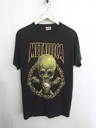 metallica shirt vintage t shirt pushead band t shirts heavy