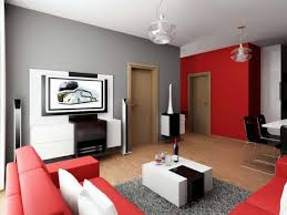 and gray interior with leather minimalist living room