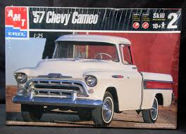 Amt - Ertl (1957 Chevrolet) '57 Chevy Cameo Pickup Truck Model Kit ... 1957 Chevrolet Cameo Pick Up Sema 2013 Youtube Carrier Classic Truck Hagerty Articles 1955 Chevy Cameo Truck Hot Rods And Restomods Chevy Pickup Rod Network Fast Lane Cars Still Truckin Survived Greensburg Tornado The Wichita Eagle 1956 3100 Volo Auto Museum Tubd Snub Nose Custom To 1958 For Sale On Classiccarscom F1971 Houston 2015