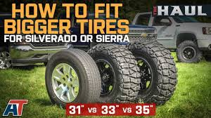 How To Fit Larger Tires On Your Chevy Silverado Or GMC Sierra - YouTube