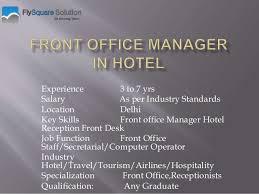 Front Desk Clerk Salary by Hospitality Jobs In India Steward Hostess Jobs Flysquare Soluti U2026