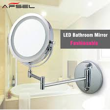 afsel makeup mirrors led wall mounted extending folding