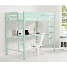 Walker Edison 3 Piece Contemporary Desk Instructions by Walker Edison Twin Loft Bed With Desk In Mint Btsqtozmt