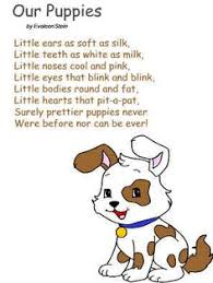 DLTKs Crafts For Kids Our Puppies Poem Poster Or Color Page Similies Lesson