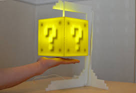 Mario Bros Question Block Lamp by Shut Up And Take My Money The Super Mario Coin Block Lamp