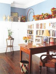 light blue and brown color combinations for comforting interior
