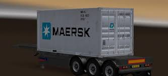100 20 Ft Truck Trailer Container Ft V For For ATS Euro Simulator 2 Mods