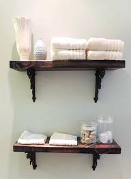Rustic Wooden Shelves Medium Size Of Floating Wood Bathroom Tall