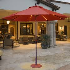 9 Ft Patio Umbrellas With Tilt by 9 U0027 Lighted Patio Umbrella Auto Tilt By Galtech Ipatioumbrella Com