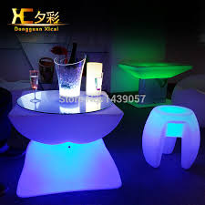 led light up bar table glowing club furniture living room
