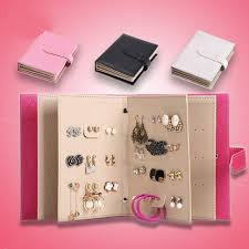 Simple Earrings Collection Book PU Leather Jewelry Series Creative Paper Display Gift Box
