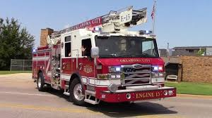 Oklahoma City Fire Dept. Engine 15 & EMSA Responding - YouTube