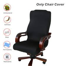 Office Chair Covers, My Decor Removable Cover Stretch Cushion Resilient  Fabric Computer Chair /Desk Chair/Boss Chair /Rotating Chair / Executive  Chair ... Leather Office Chair Cover Beandsonsco View Photos Of Executive Office Chair Slipcovers Showing 15 Melaluxe Cover Universal Stretch Desk Computer Size L Saan Bibili Help Gloves Shihualinetm Cloth Pads Removable Gallery 12 20 Size Washable Arm Slipcover Rotating Lift Covers Chairs Without Arms Ikea Ding Room Slipcover Eleoption Seat High Back Large For Swivel Boss Lms C Best With Lumbar Support Small