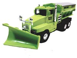 100 Salt Spreader For Truck Amazoncom SF Toys Green Front End Snow Plow Rear