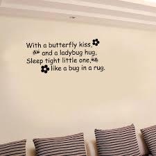 baise dans la chambre diy wall sticker papillons baiser coccinelle câ citer vinyle