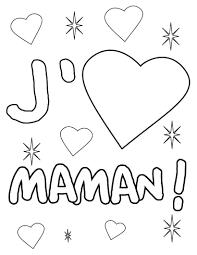 Coloriages Coloriage Jaime Maman Frhellokids Coloriage Pour Maman Je