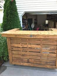 Best Scheme Used Wooden Pallet Outdoor Bar Ideas Of For Outdoors