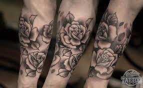 Half Sleeve Neo Traditional Rose Tattoo