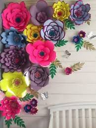 Image Is Loading Large Paper Flowers Wall Decor Nursery Wedding