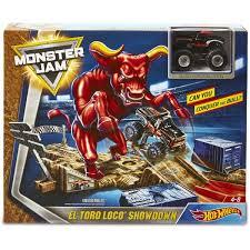 100 Monster Jam Toy Truck Videos Hot Wheels El Toro Loco Showdown Play Set BIG W