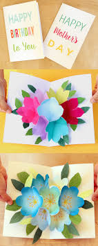 Who Doesnt Love A Handmade Birthday Card With Beautiful 3D Bouquet Hidden Inside I Also Made Mothers Day Different Design You Can