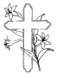 Cross And Beautiful Flower Coloring