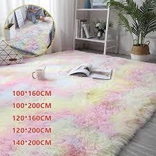 große größe soft tie dye teppichboden schlafzimmer matte farbverlauf flauschiger teppich wohnzimmer teppich flur matte home decoration