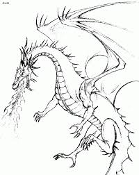 814x1024 Fire Dragon Coloring Pages Breathing