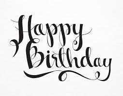 Simple Black Happy Birthday Script