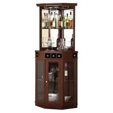 In Cabinet Wine Rack Corner Liquor Dining Room Bar Unit Glass Display