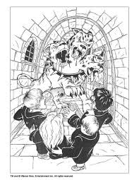Harry Potter And 3 Headed Dog Coloring Page