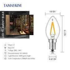led bulb e14 c7 led filament light ls mini torpedo shape 1w