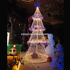 Fashionable Umbrella Ball Christmas Tree White Outdoor Lighted