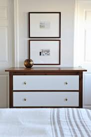 white two drawer midcentury chest