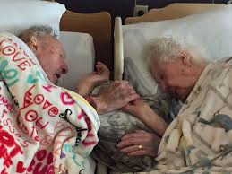 100 year old man can t let go of his dying wife s hand after 77
