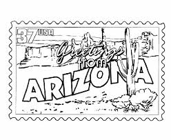 USA Printables Arizona State Stamp