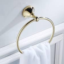 handtuchhalter rack bad kleiderbügel haken wand montiert badezimmer goldenen messingring golden antiquität ring solide