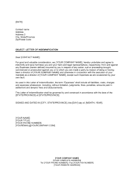 Letter of Indemnification to Former Director Template & Sample