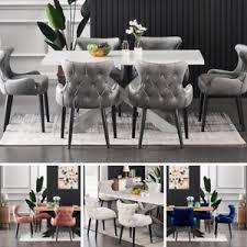 details zu luxus weiß esstisch set samt stühle 4 und 6 personen