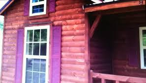 Tiny house built by Amish Cabin pany