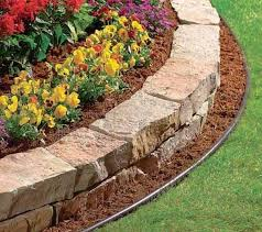 Rustic Flower Beds With Rocks In Front Of House Ideas 12