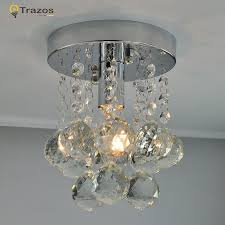 1 light ceiling lighting fixture small clear