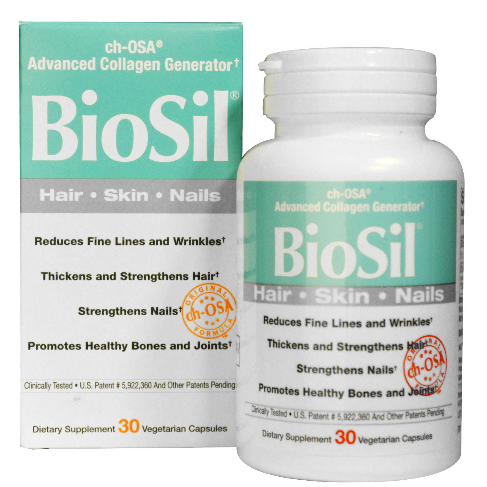 BioSil Skin Hair Nails - 30 Vegetarian Capsules