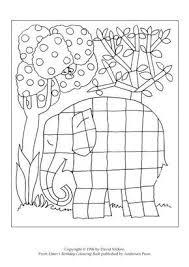 Elmer Coloring Elephant Page