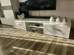 wohnwand tv tisch comode wohnzimmer