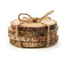 christmas tree trunk coasters craft ideas pinterest rustic