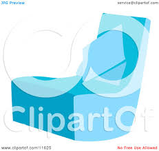 Blue Chair With A Pillow Clipart Illustration By AtStockIllustration