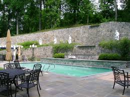 Patio Wall Art Pool Traditional With Sculpture Garden Lamp Post