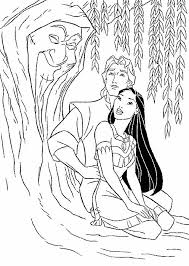Pocahontas Coloring Pages Grandmother Willow