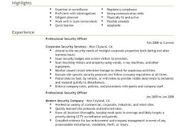 Security Guard Resume Example Sample Stupendous Skills Examples Unarmed Armed Template Curriculum Vitae